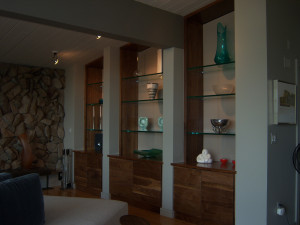glass shelf installation / fort worth / armstrong's