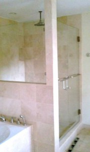 Shower Door From Armstrong Glass and Mirror