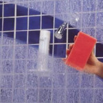 cleaning shower door