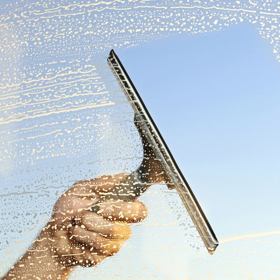squeegee on window