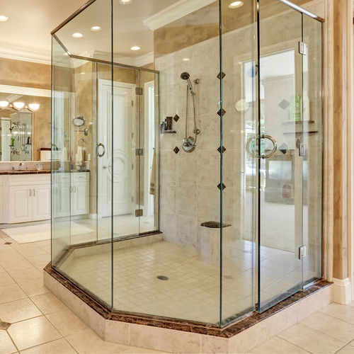 Glass Shower Door Repair for Large Bathroom